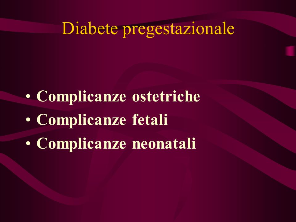 Diabete pregestazionale