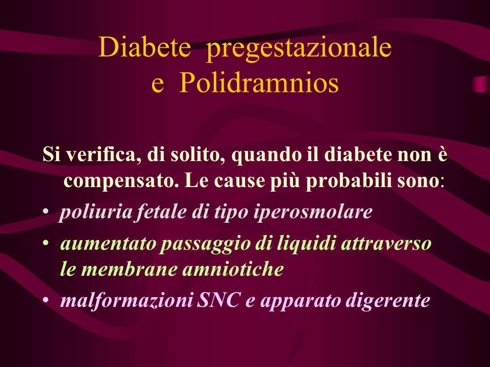 Diabete pregestazionale e Polidramnios