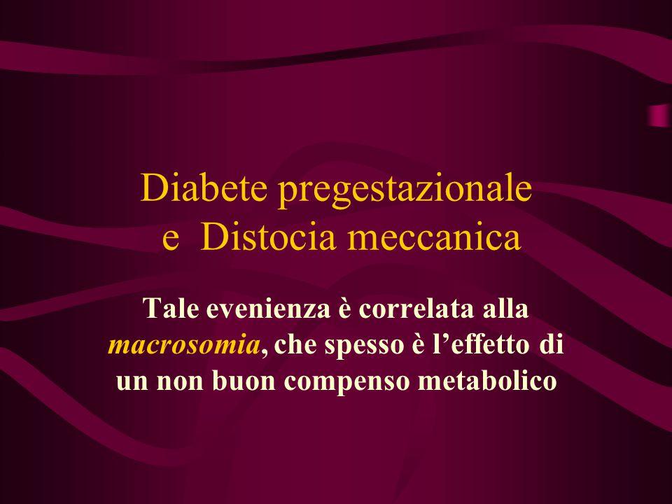 Diabete pregestazionale e Distocia meccanica