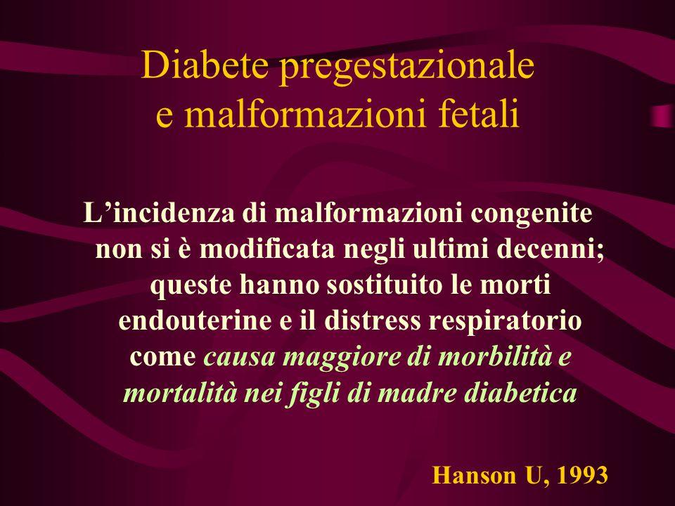 Diabete pregestazionale e malformazioni fetali