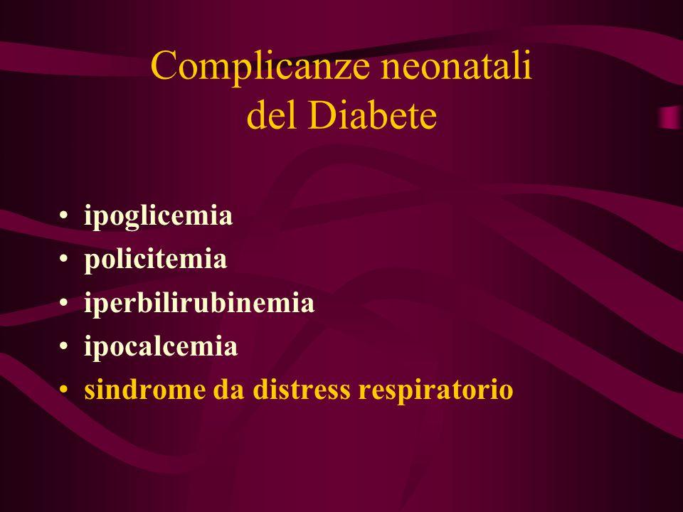 Complicanze neonatali del Diabete