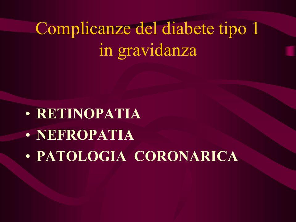 Complicanze del diabete tipo 1 in gravidanza