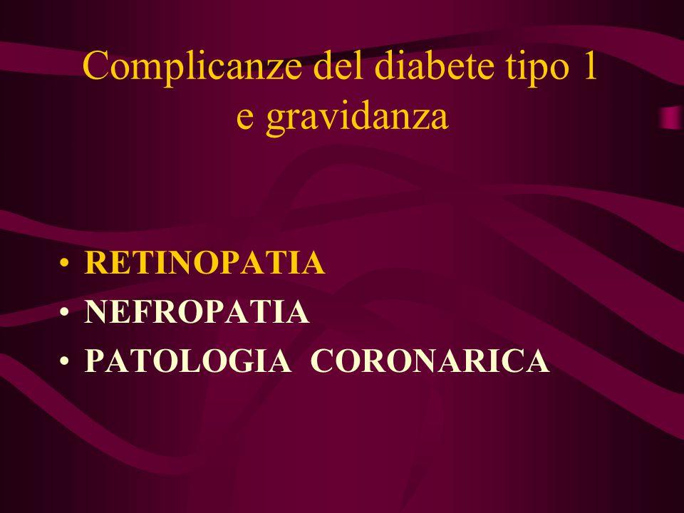Complicanze del diabete tipo 1 e gravidanza