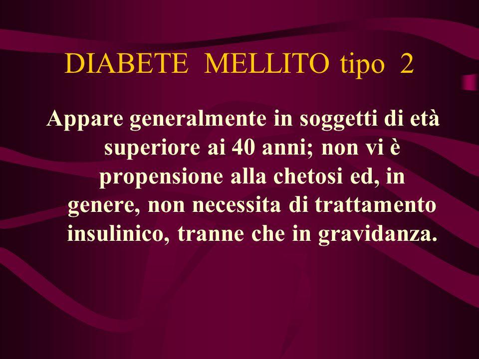 DIABETE MELLITO tipo 2
