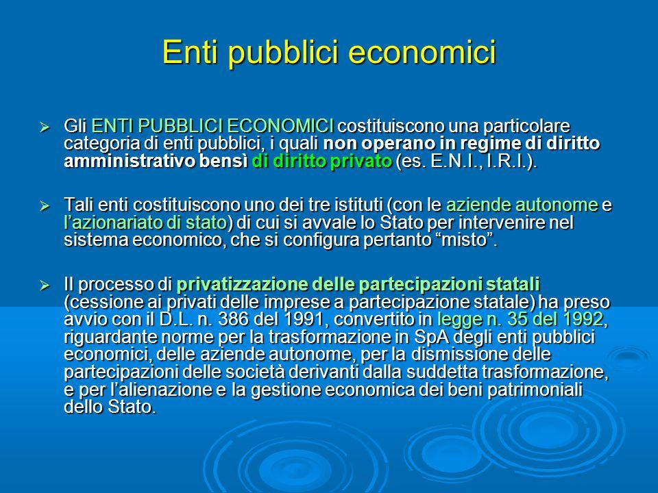 Enti pubblici economici