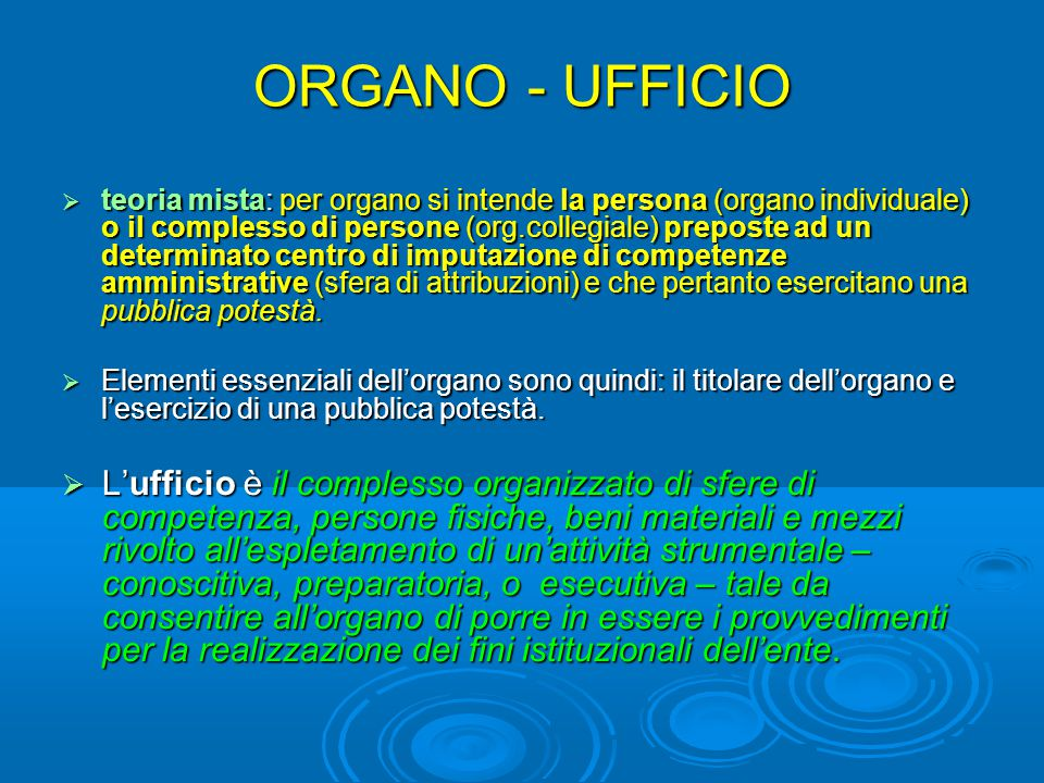 ORGANO - UFFICIO