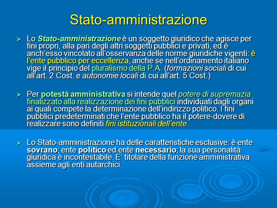 Stato-amministrazione