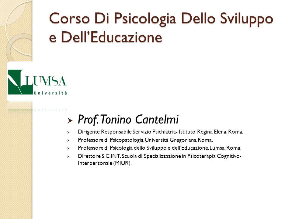 Corso Di Psicologia Dello Sviluppo e Dell'Educazione