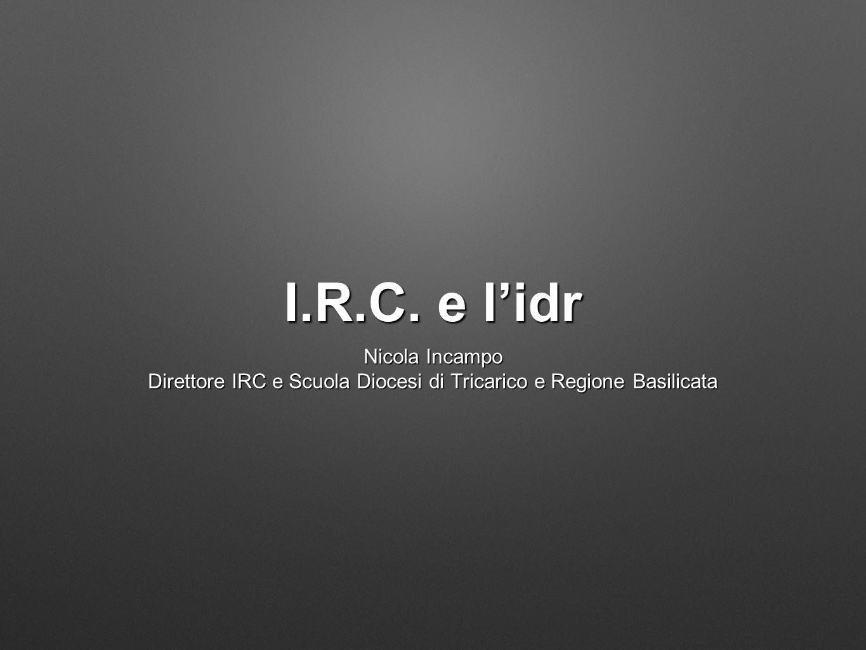 Direttore IRC e Scuola Diocesi di Tricarico e Regione Basilicata