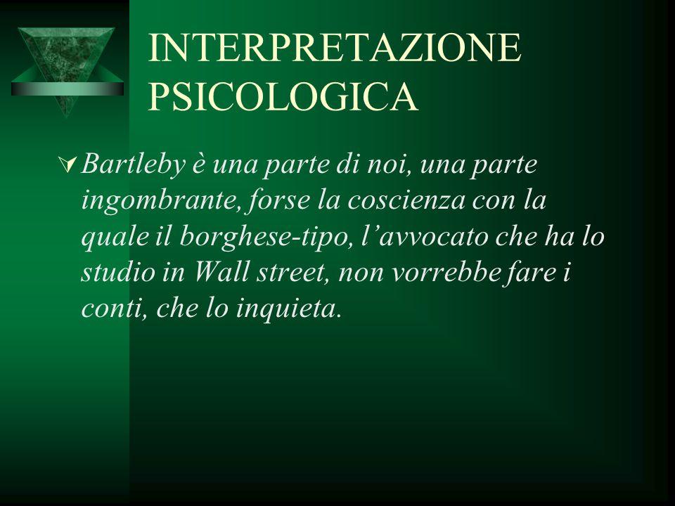 INTERPRETAZIONE PSICOLOGICA