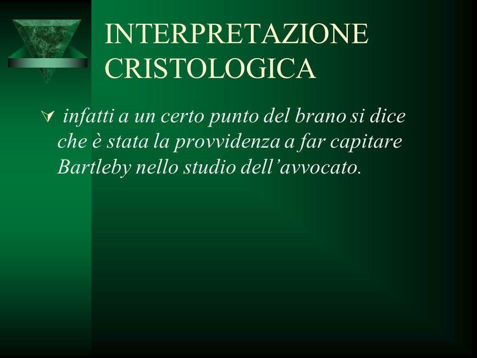 INTERPRETAZIONE CRISTOLOGICA