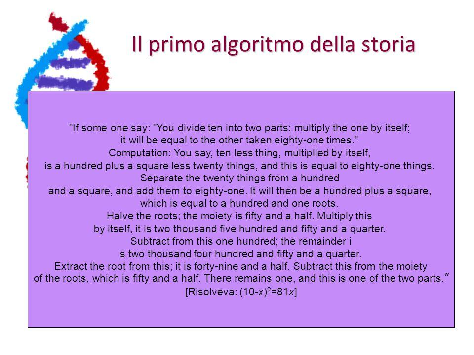 Il primo algoritmo della storia