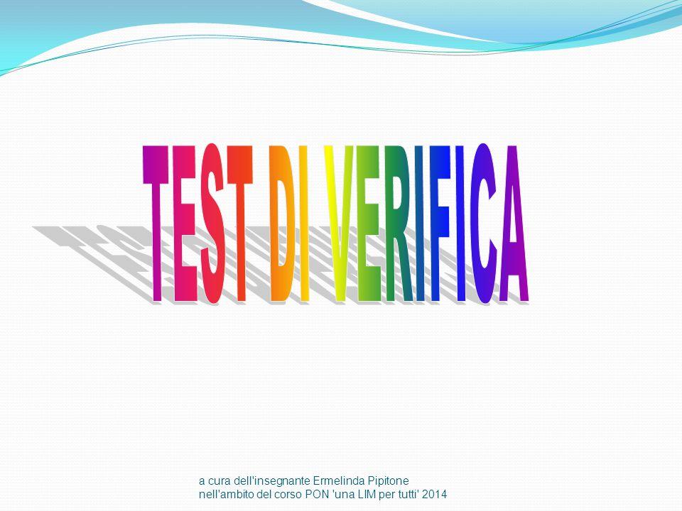 TEST DI VERIFICA a cura dell insegnante Ermelinda Pipitone nell ambito del corso PON una LIM per tutti 2014.
