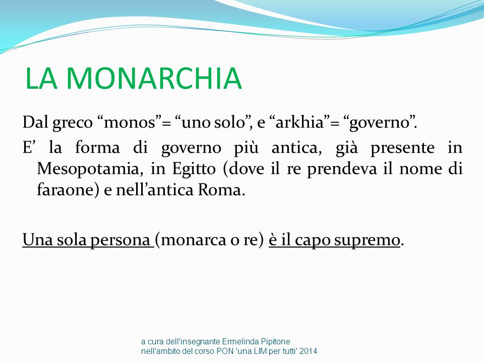 LA MONARCHIA