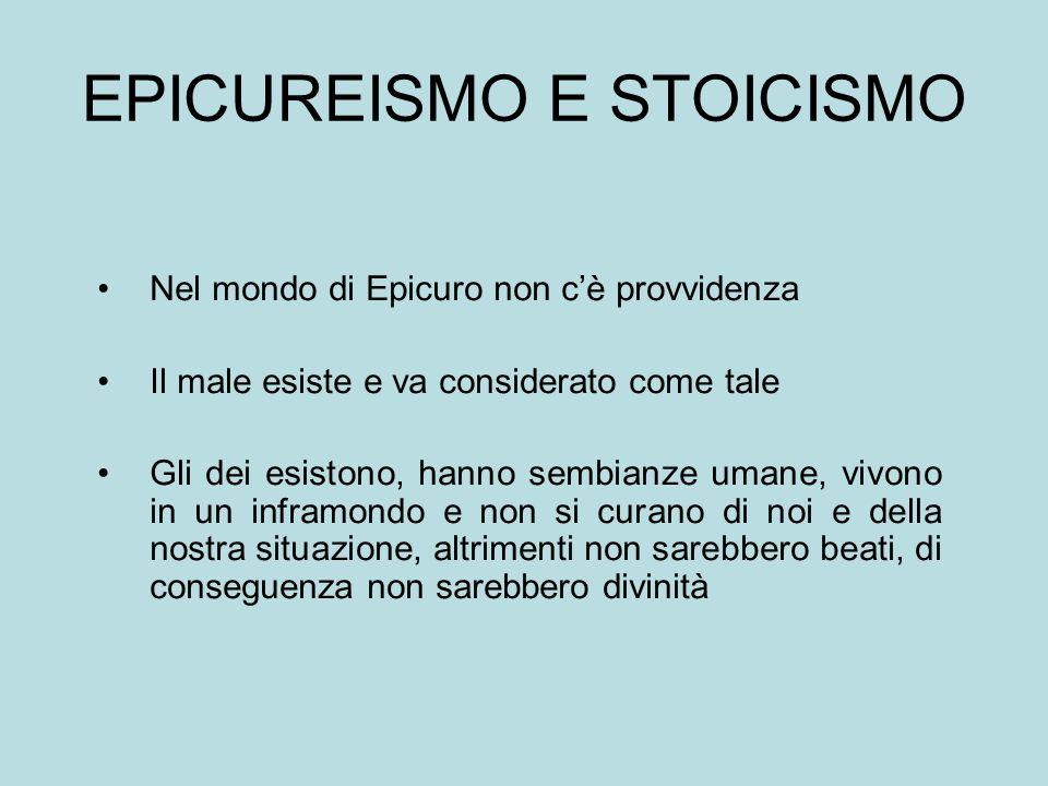 EPICUREISMO E STOICISMO