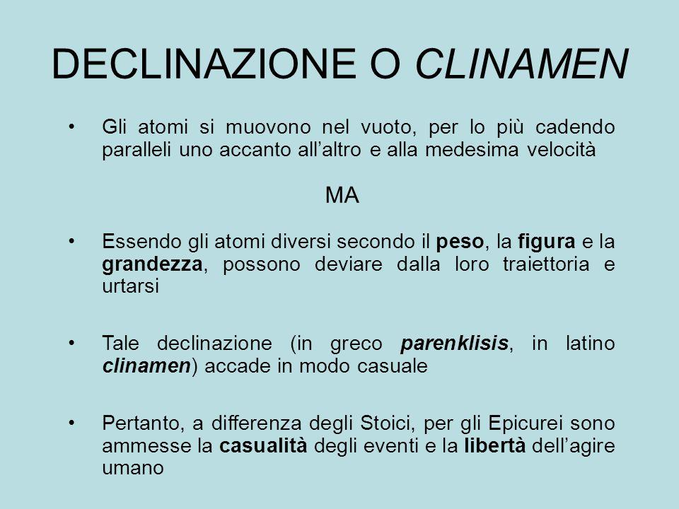 DECLINAZIONE O CLINAMEN