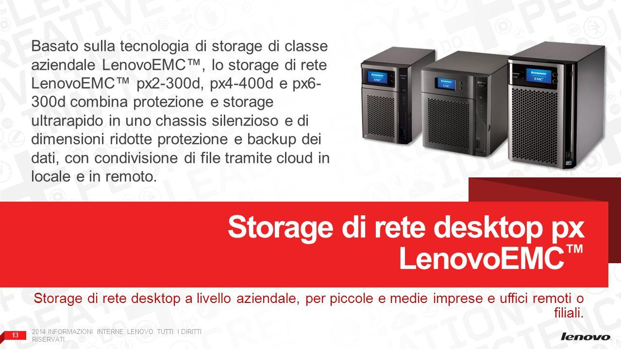 Storage di rete desktop px LenovoEMC™