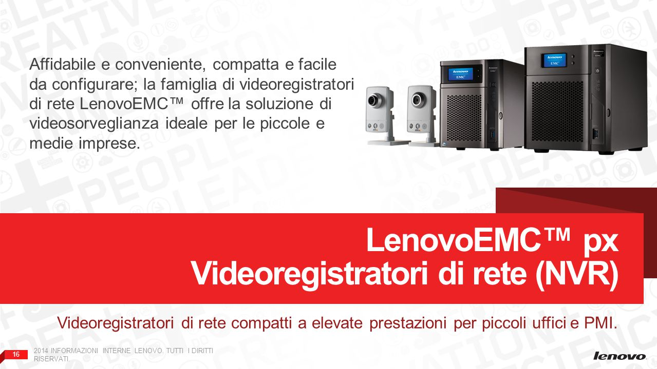 LenovoEMC™ px Videoregistratori di rete (NVR)