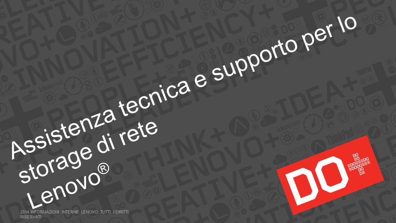 Assistenza tecnica e supporto per lo storage di rete Lenovo®
