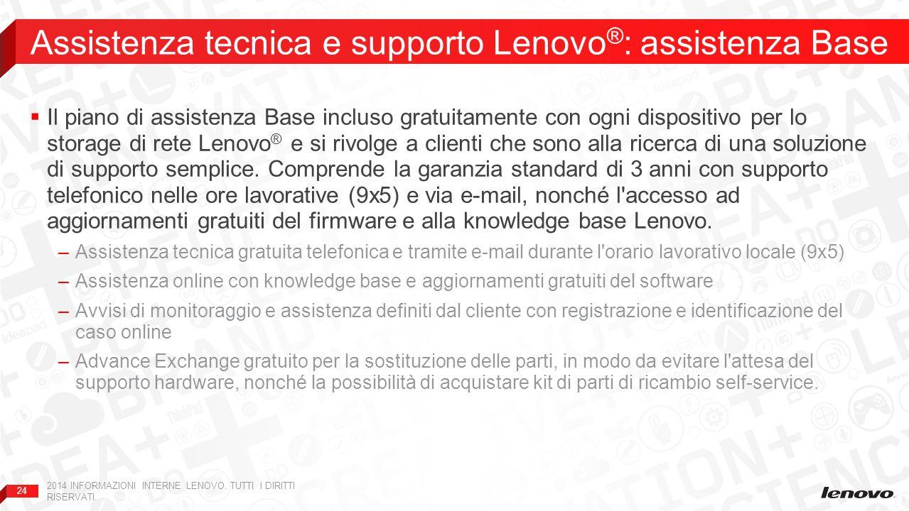 Assistenza tecnica e supporto Lenovo®: assistenza Base