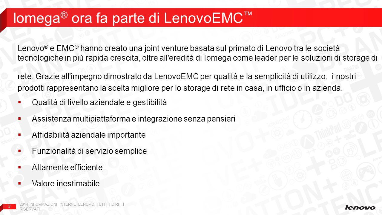 Iomega® ora fa parte di LenovoEMC™