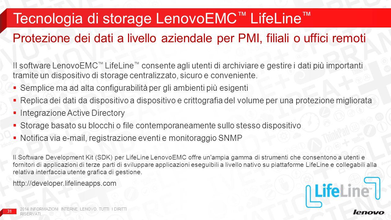 Tecnologia di storage LenovoEMC™ LifeLine™