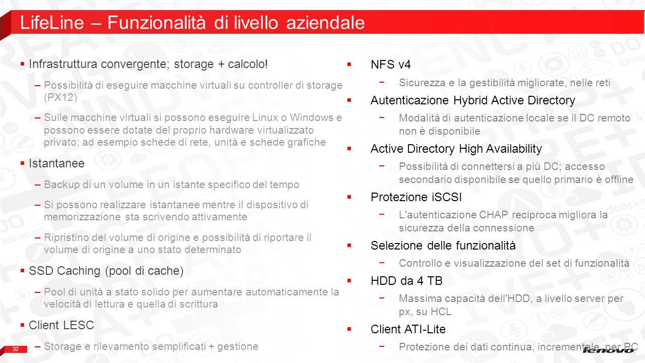 LifeLine – Funzionalità di livello aziendale
