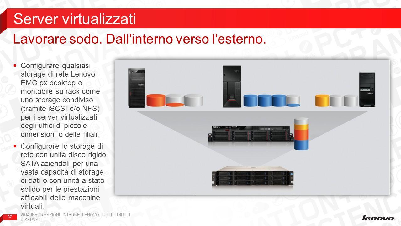 Server virtualizzati Lavorare sodo. Dall interno verso l esterno.