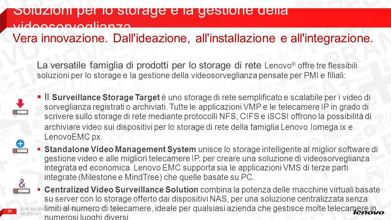 Soluzioni per lo storage e la gestione della videosorveglianza