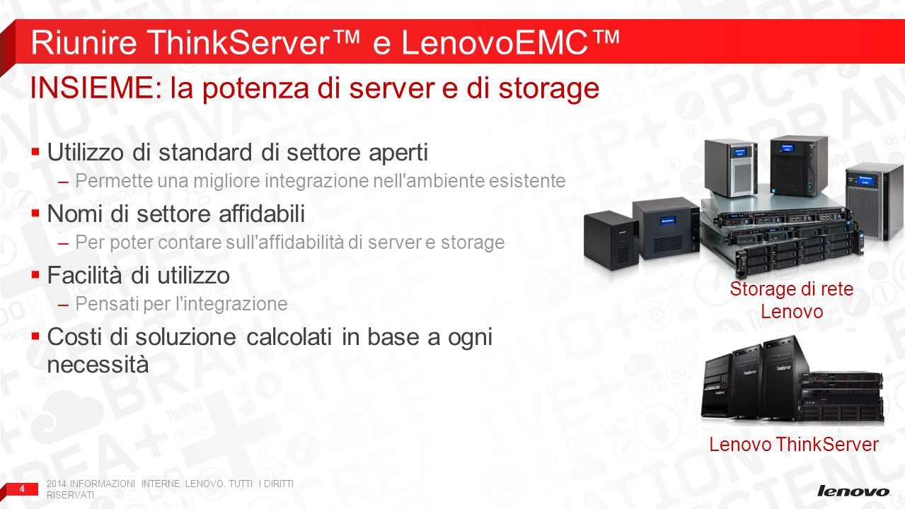Riunire ThinkServer™ e LenovoEMC™