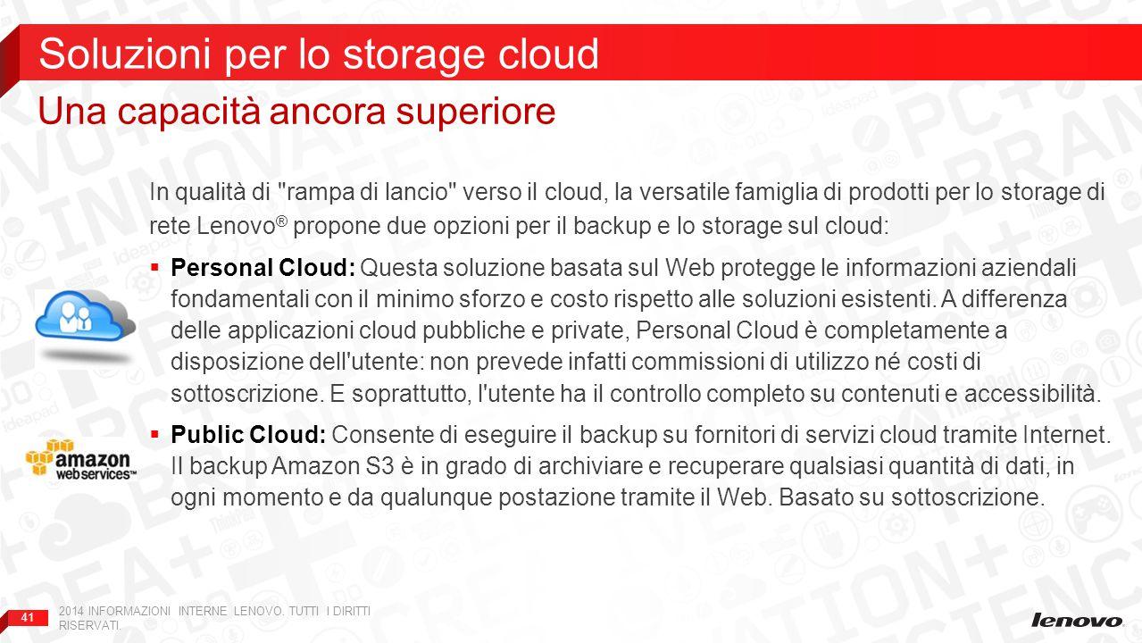 Soluzioni per lo storage cloud