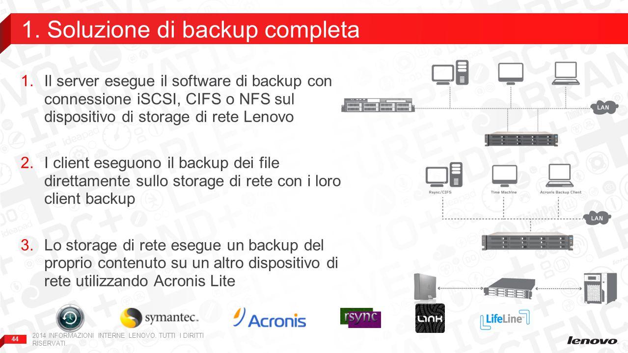 1. Soluzione di backup completa