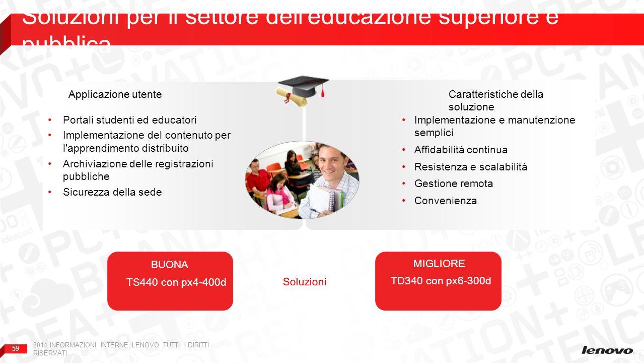 Soluzioni per il settore dell educazione superiore e pubblica