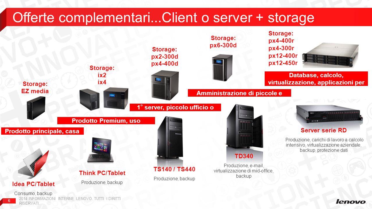Offerte complementari...Client o server + storage