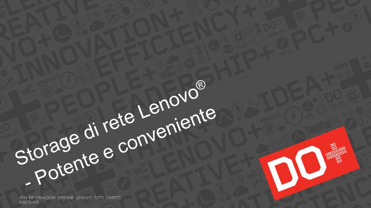 Storage di rete Lenovo® - Potente e conveniente