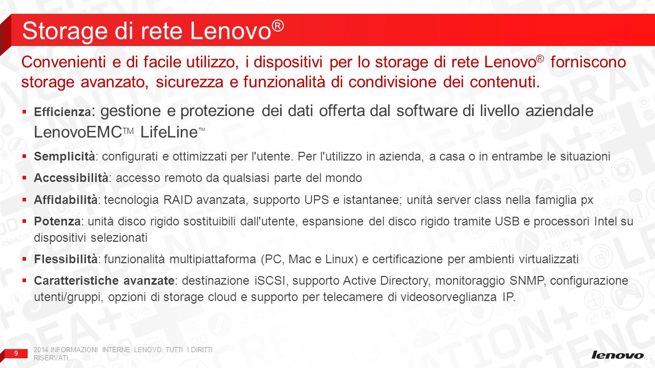 Storage di rete Lenovo®