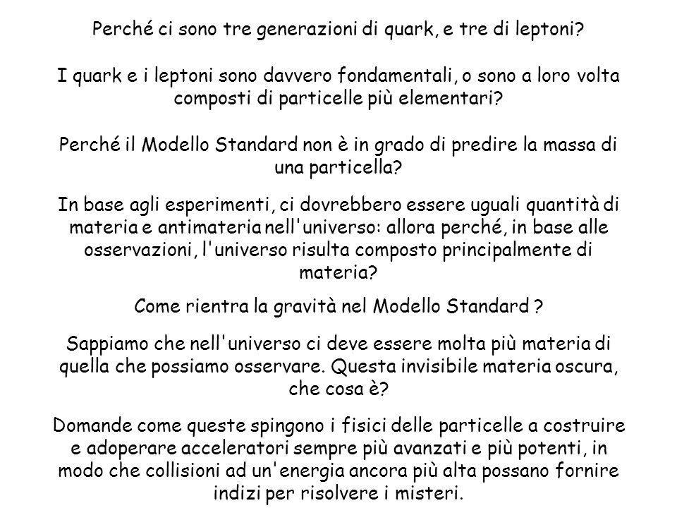 Perché ci sono tre generazioni di quark, e tre di leptoni