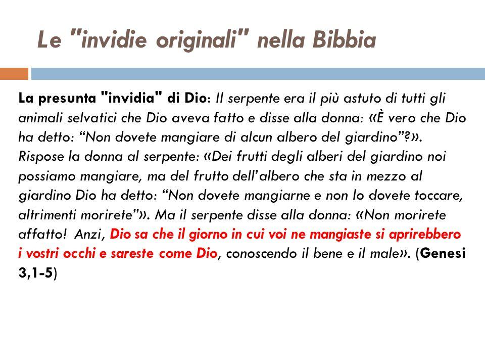 Le invidie originali nella Bibbia