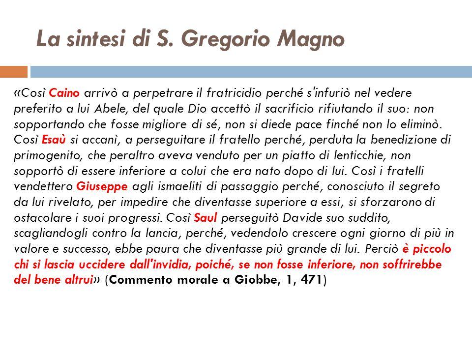 La sintesi di S. Gregorio Magno
