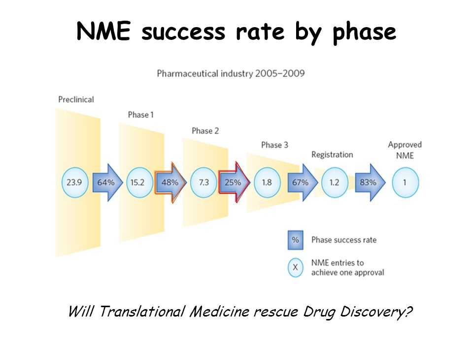 NME success rate by phase