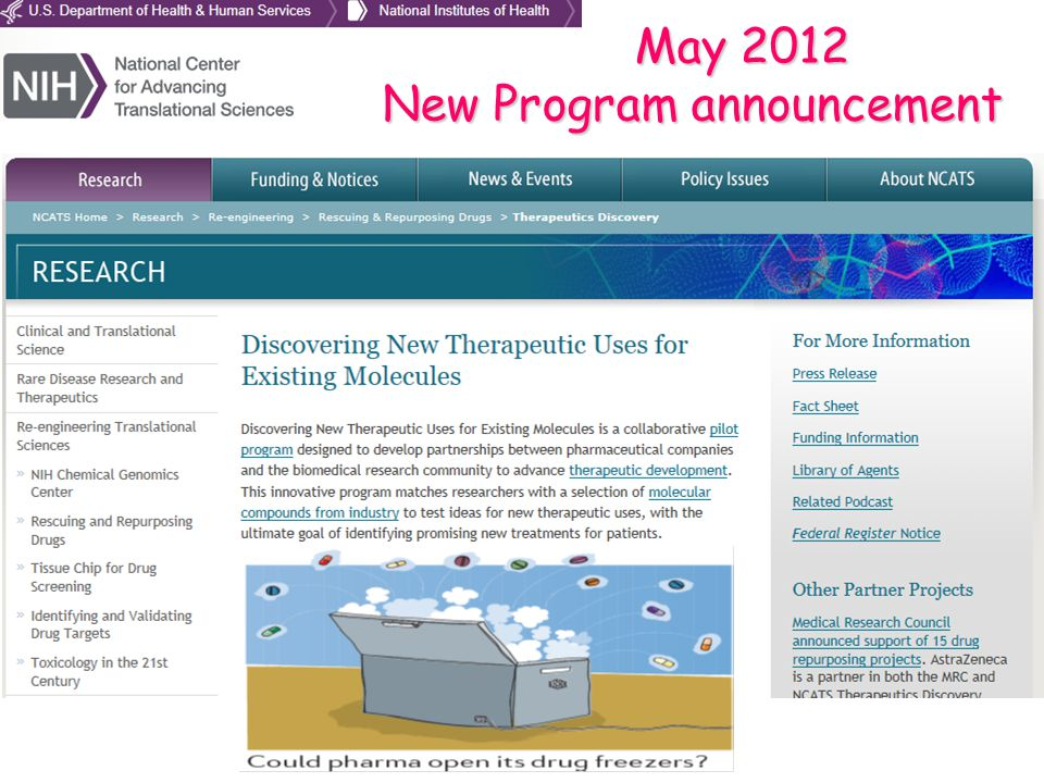 May 2012 New Program announcement