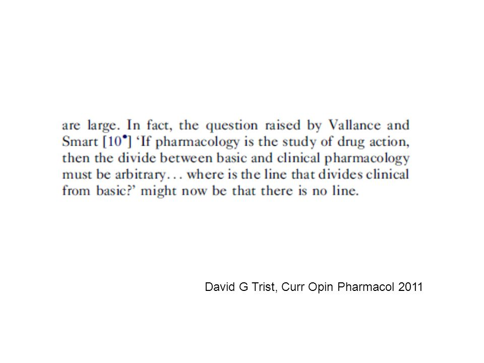 David G Trist, Curr Opin Pharmacol 2011