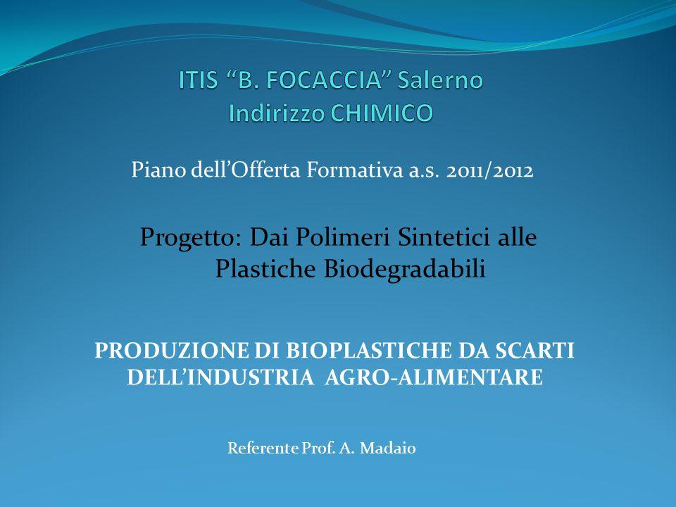 ITIS B. FOCACCIA Salerno Indirizzo CHIMICO