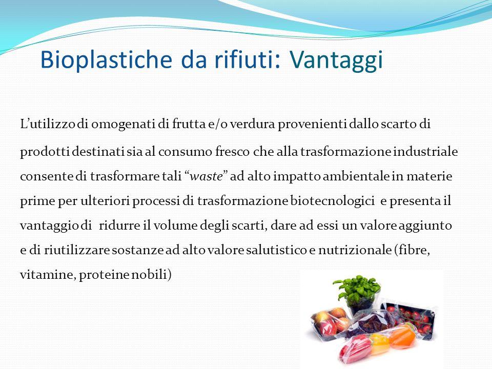 Bioplastiche da rifiuti: Vantaggi