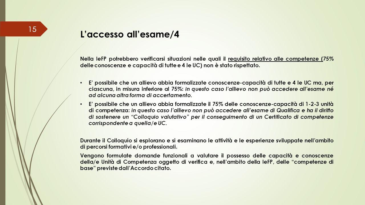 L'accesso all'esame/4