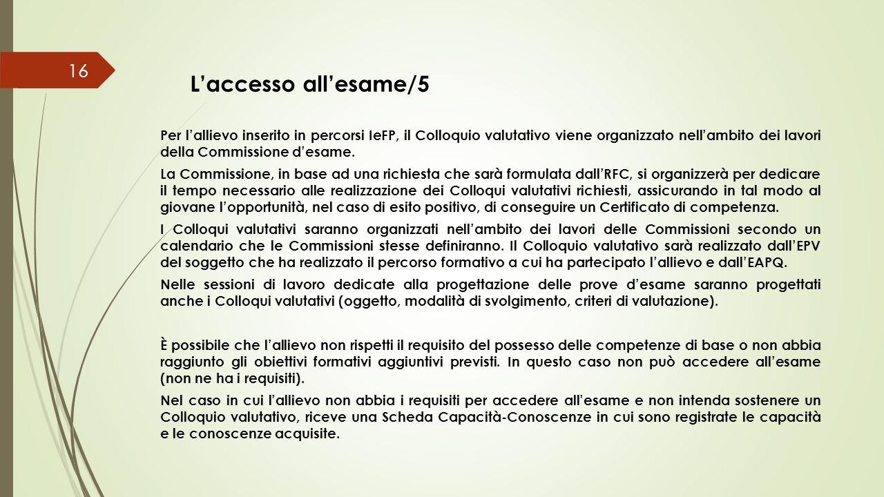 L'accesso all'esame/5