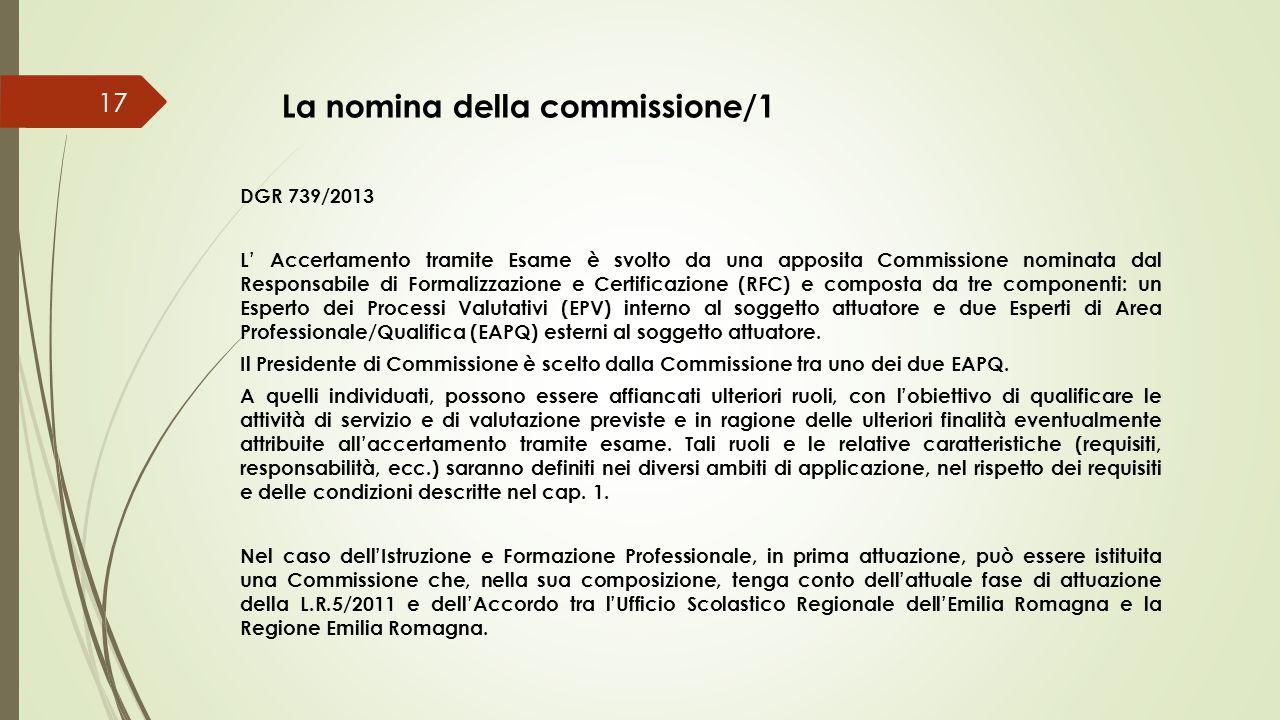La nomina della commissione/1