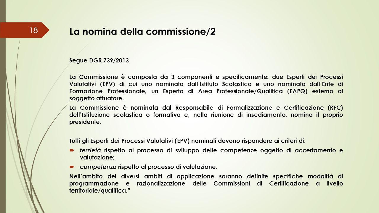 La nomina della commissione/2