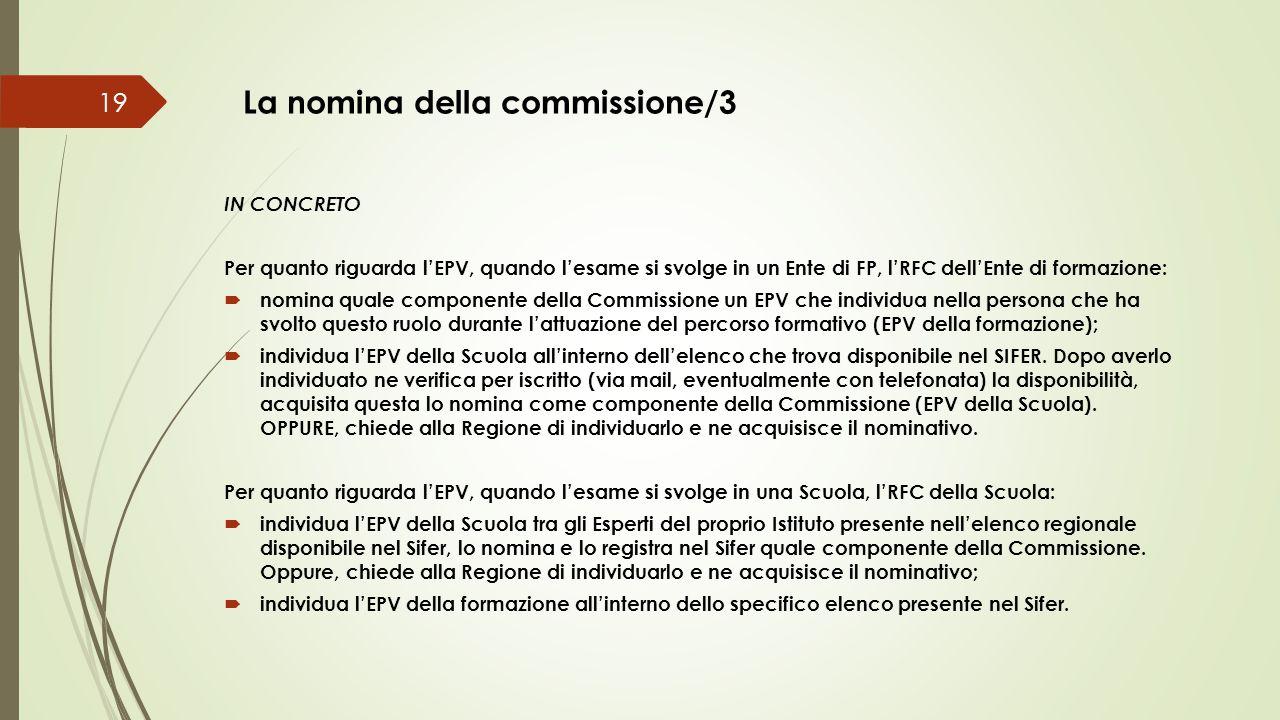 La nomina della commissione/3