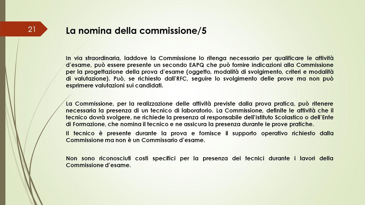 La nomina della commissione/5